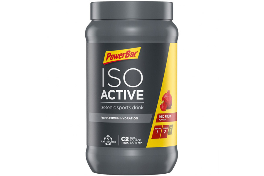 Powerbar IsoActive Isotonic Sportdrank 600g - Red Fruit Punch PowerBar